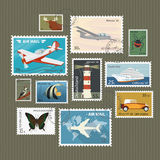 Postage stamps collection Royalty Free Stock Images