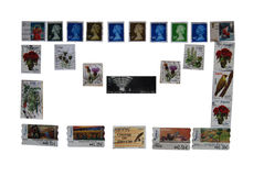 Postage stamps, envelope Stock Image