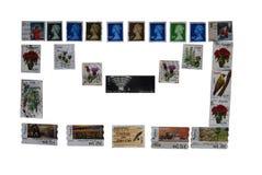 Postage stamps, envelope Stock Image
