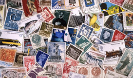 Postage Stamps of Europe - Stamp Collecting. European Postage Stamps - Stamp Collecting or Philately Royalty Free Stock Images