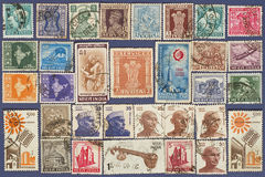 Postage stamps of India. Stock Images