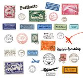 Postage stamps and labels from Germany Stock Image