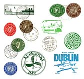 Postage stamps and labels from Ireland Stock Images