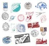 Postage stamps and labels from the Soviet Union Stock Photography