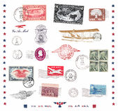 Postage stamps and labels from US Stock Photography