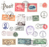 Postage stamps and labels from US Stock Photos