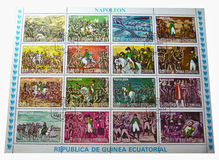 Postage stamps - Napoleon Royalty Free Stock Photo