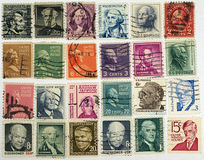 Postage stamps with a president of USA . Stock Images