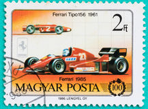 Postage stamps with printed in Hungary shows car Stock Photography