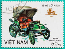Postage stamps with printed in Vietnam shows the classical car Royalty Free Stock Images
