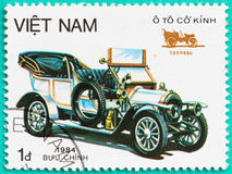 Postage stamps with printed in Vietnam shows the classical car Stock Photography