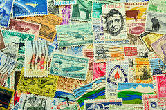Postage stamps from 1960's Stock Image