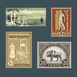 Postage stamps 2 Royalty Free Stock Images