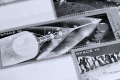 Postage stamps, Space Mars planet Royalty Free Stock Image