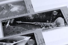 Postage stamps, Space Mars planet Stock Photography