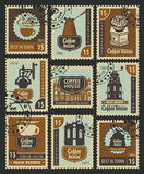 Postage Stamps on the theme of coffee Stock Image