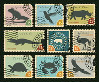 Postage stamps on the theme of wildlife Stock Photos