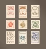 Postage stamps- vintage illustration Stock Image
