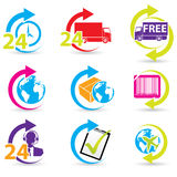 Postage and support related icons Royalty Free Stock Images