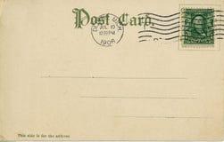 Postal 1906 de la vendimia Foto de archivo libre de regalías