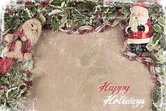 Postal 2012 de la Navidad imagen de archivo