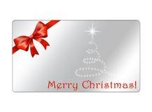 Postal abstracta de los globos de la Navidad - giftcards imagenes de archivo