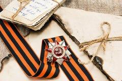 Postal al día de victoria sobre los nazis en la Segunda Guerra Mundial Imagen de archivo