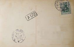 Postal alemana 1909 de la vendimia fotografía de archivo