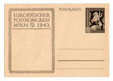 Postal alemana del Reich Imagenes de archivo