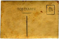 Postal amarilla   Fotos de archivo libres de regalías