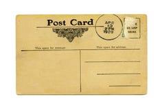 Postal antigua Foto de archivo libre de regalías