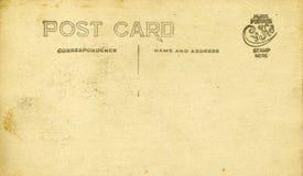 Postal antigua Fotos de archivo libres de regalías