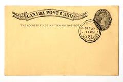 Postal antigua anticuada 1894. Fotos de archivo libres de regalías
