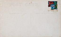 Postal antigua de la Navidad Foto de archivo libre de regalías