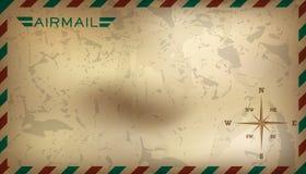 Postal background. Vector illustration Stock Photos