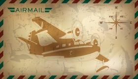 Postal background. Vector illustration Royalty Free Stock Photo