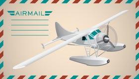 Postal background. Vector illustration. Postal air mail background. Vector illustration. Clip art royalty free illustration