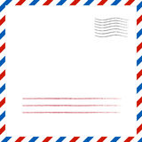 Postal background. Vector illustration Royalty Free Stock Photography