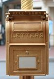 Postal box. Gold Postal box Stock Photos