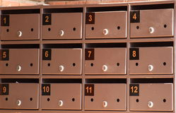 Postal boxes Royalty Free Stock Photo