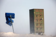 Postal Boxes in Winter Stock Photos