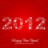 Postal brillante de la invitación del Año Nuevo 2012 Imagen de archivo libre de regalías