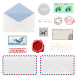Postal Business Icons Stock Photos