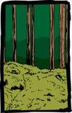 Postal capítulo del bosque con el rastro en Suecia libre illustration