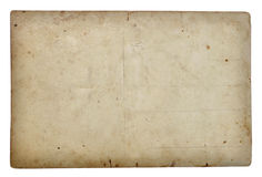 Postal card. Reverse side of an old postal card royalty free stock photography