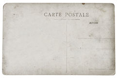 Postal card. Reverse side of an old postal card stock photography