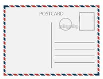 Postal card isolated on white background. Vector illustration. vector illustration