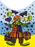 Postal clown Royalty Free Stock Image