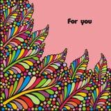 Postal colorida Foto de archivo libre de regalías
