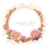 Postal elegante de la invitación de la flor Imagen de archivo libre de regalías